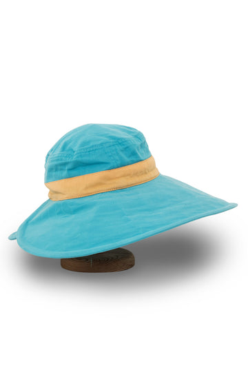 By The Sea Bali Jolie Floppy Hat Blue