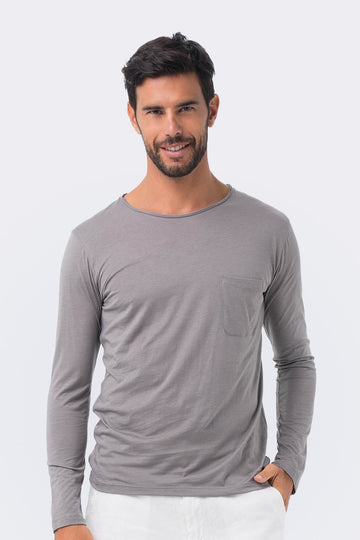 By The Sea Bali Basic light jersey L/S T-shirt Grey