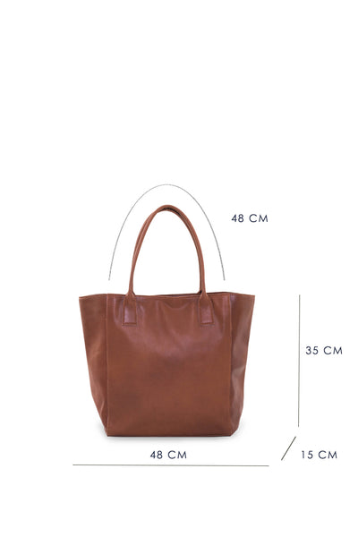 Nadi Leather Bag Brown - By The Sea Bali