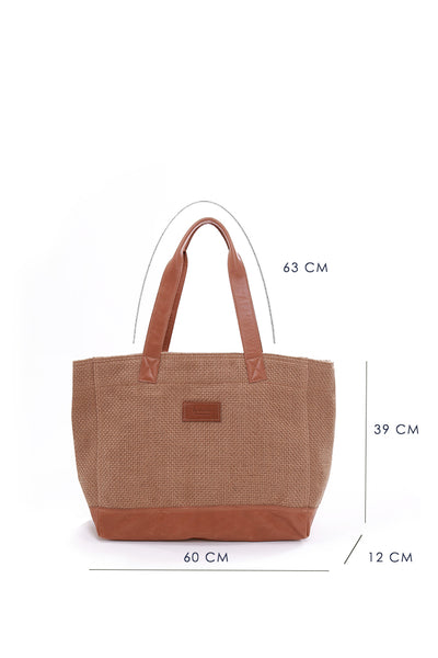 Sisal Bag w leather