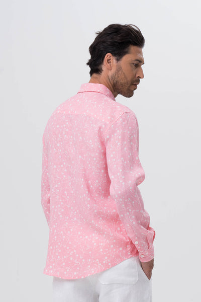 Bintan Linen Shirt L/S Pink - By The Sea Bali