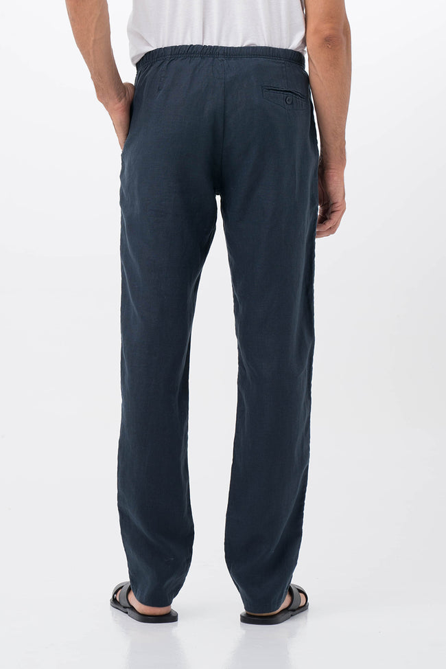 Relax Linen Long Pants Navy