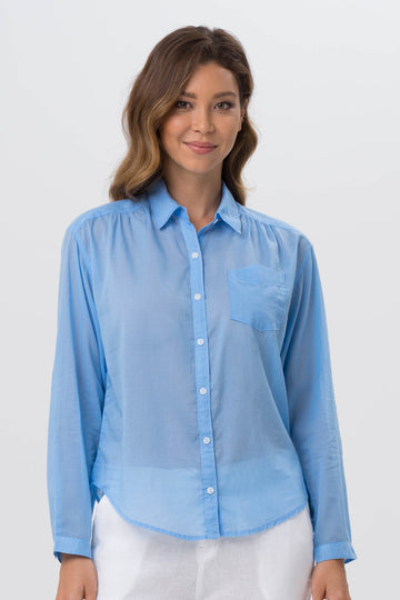 By The Sea Bali Liza Shirt Blue