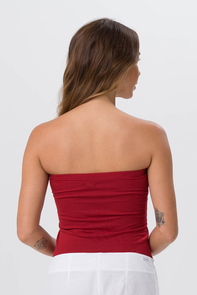 Tube Top Long Red