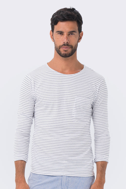 Basic light jersey L/S T-shirt offwhite - By The Sea Bali