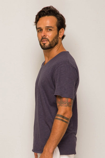 Basic T-shirt V-neck Grey - By The Sea Bali