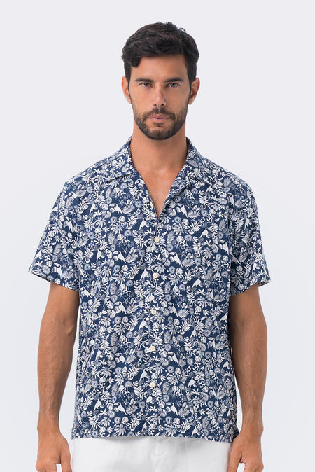 Liberty Shirt S/S Blue