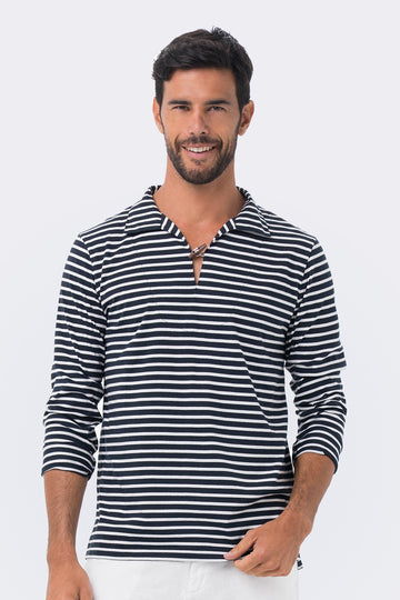 By The Sea Bali Nautical Stripe Pullover