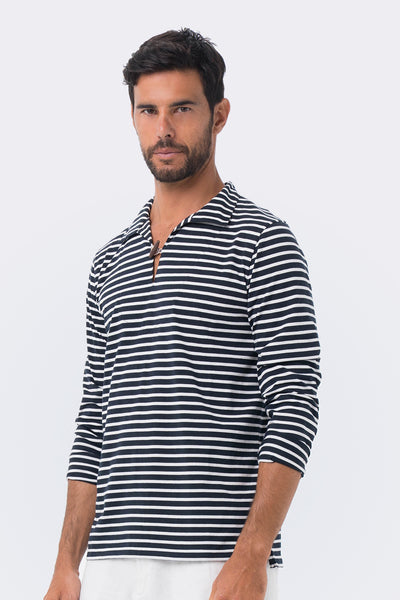 By The Sea Bali Nautical Stripe Pullover Navy