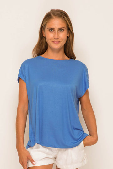 By The Sea Bali Ladies Tulip Back T-shirt Blue