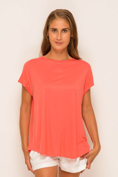 By The Sea Bali Ladies Tulip Back T-shirt Pink