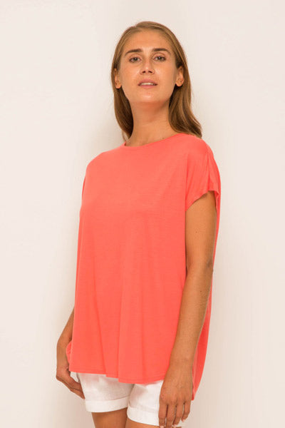 Ladies Tulip Back T-shirt Pink - By The Sea Bali