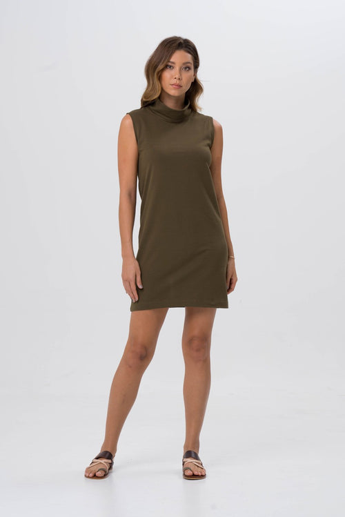 By The Sea Bali Formosa Tube Dress Khaki