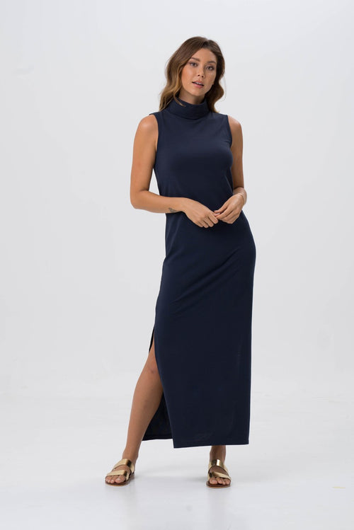 By The Sea Bali Formosa Maxi Tube Dress Navy