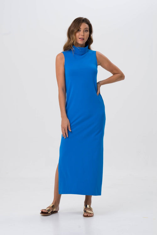 By The Sea Bali Formosa Maxi Tube Dress Blue