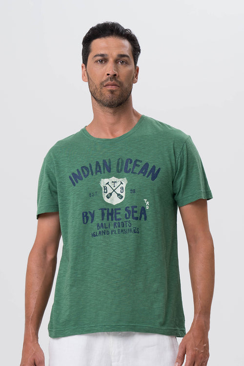 By The Sea Bali Indian Ocean T-shirt Green