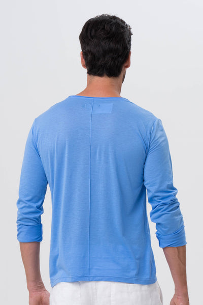 Basic light jersey L/S T-shirt Blue - By The Sea Bali
