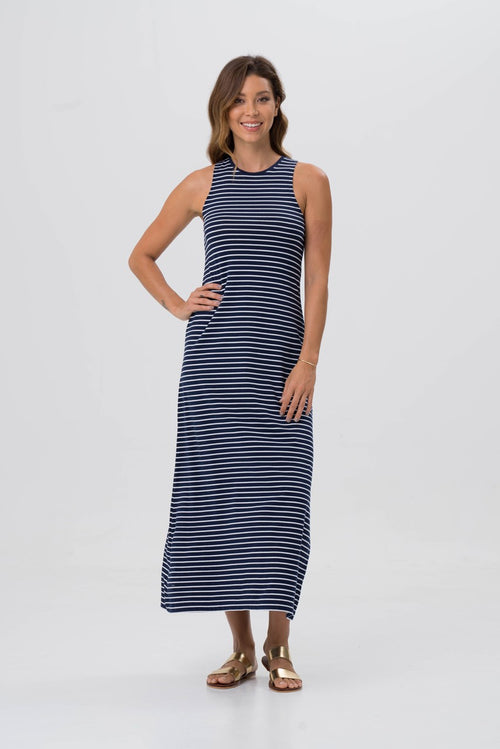 Rexha dress Navy Striped