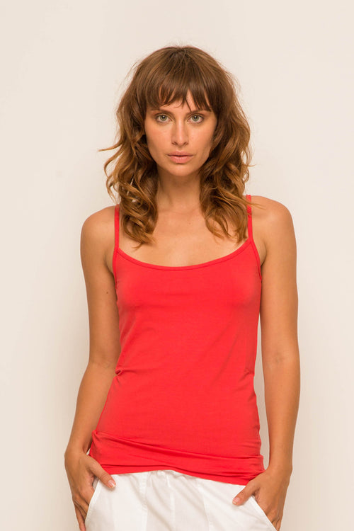 By The Sea Bali Basic Tank Top Coral