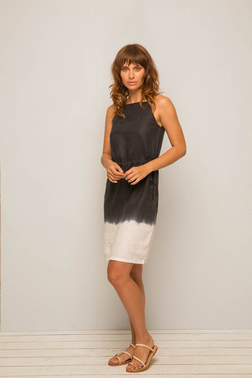 Ombre linen dress Navy - By The Sea Bali