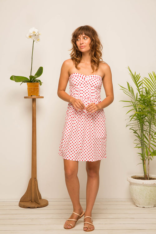 Young Polka Dress Red