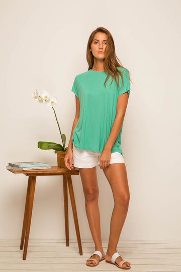 By The Sea Bali Ladies Tulip Back T-shirt Green