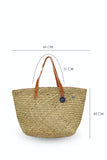 Natural Straw Tote Bag