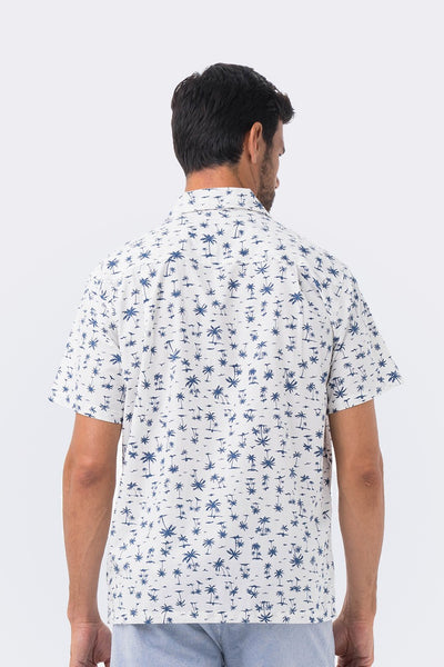 By The Sea Bali Bali Tropical Shirt S/S Navy Coconut