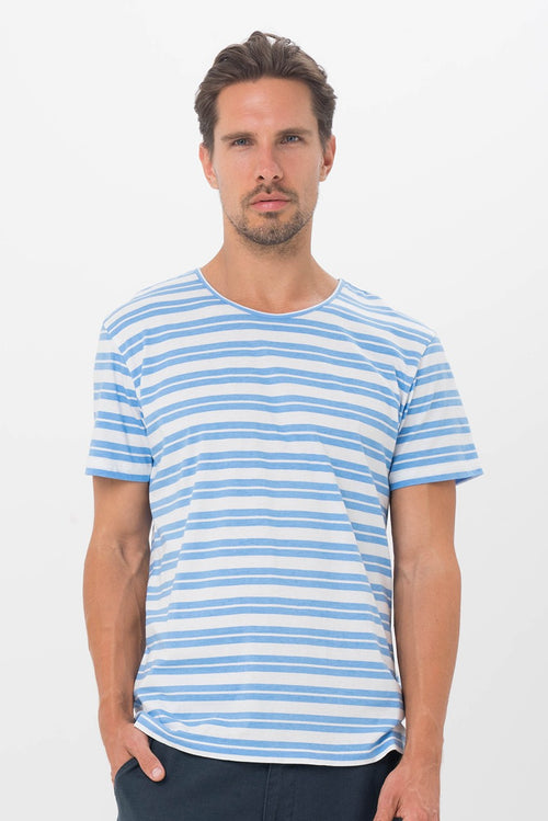 de3730fdd6973 By The Sea Bali Basic Men Shirt Blue Stripe