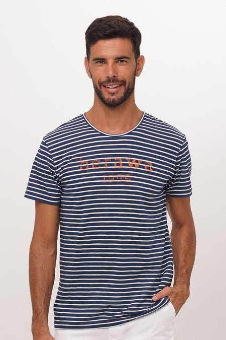 Nautical Stripe Pullover Navy