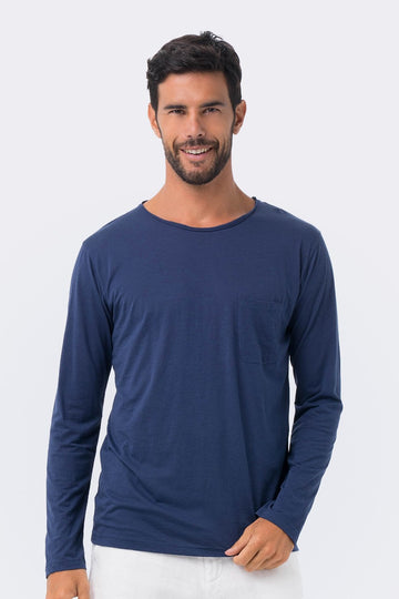 By The Sea Bali Basic light jersey L/S T-shirt Navy