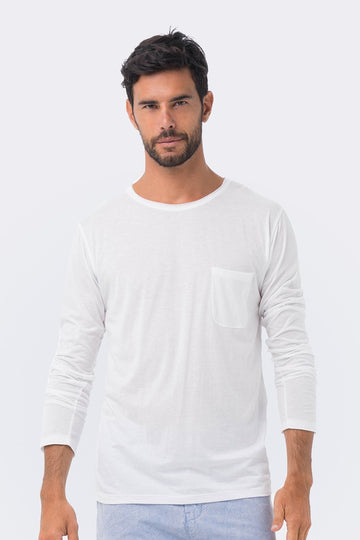By The Sea Bali Basic light jersey L/S T-shirt White