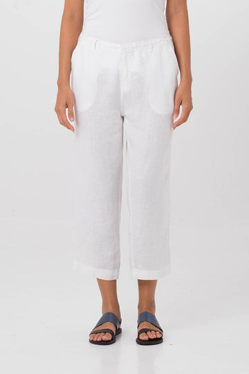 By The Sea Bali Chiara Linen Pants White