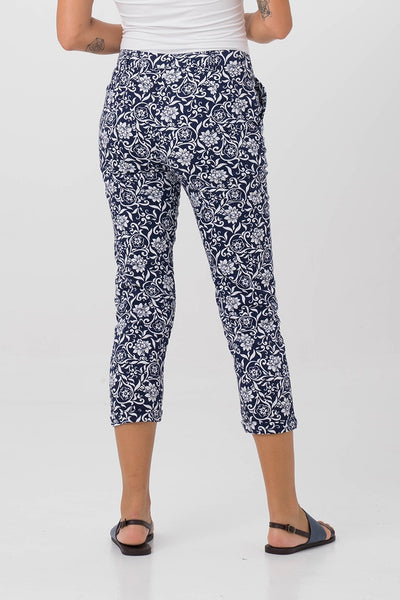 By The Sea Bali Cigarette Floral Pants