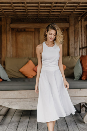 Pearl Linen Dress