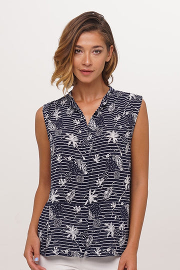 Guinea Sleeveless Shirt Navy
