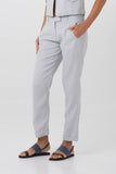 By The Sea Bali Hamptons Linen Pants Grey