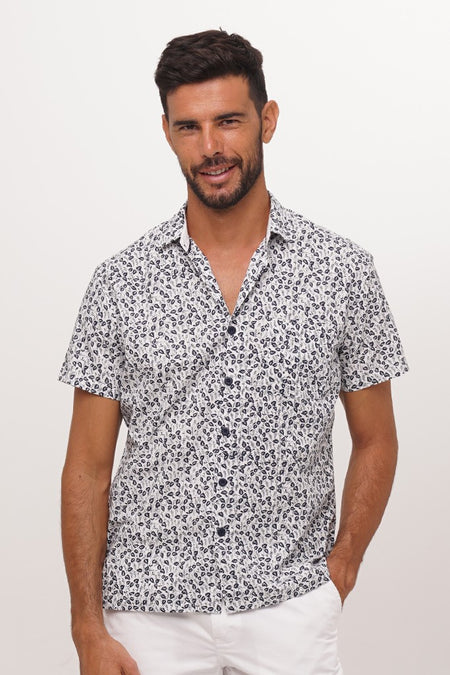 Liberty Shirt S/S White Polka Dot