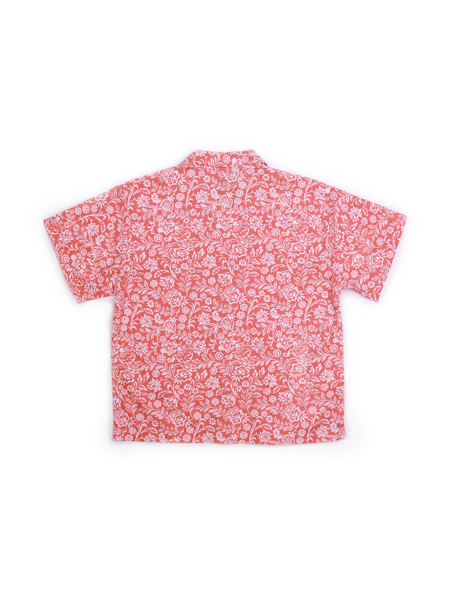 Kid's Bali Tropical Shirt S/S Orange