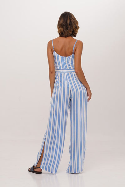 Wide Leg Slit Jumpsuit