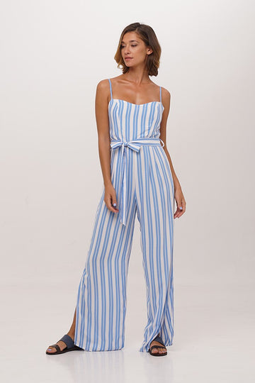 By The Sea Bali Wide Leg Slit Jumpsuit
