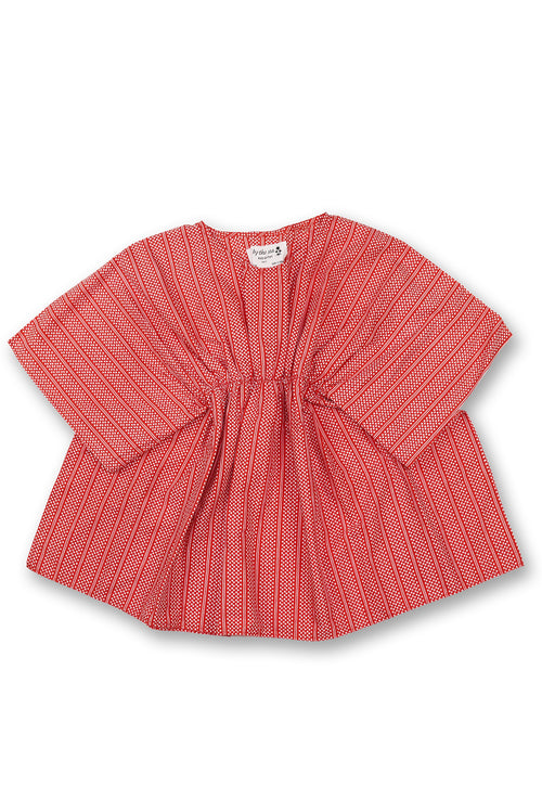 By The Sea Bali Kids Kaftan  Coral