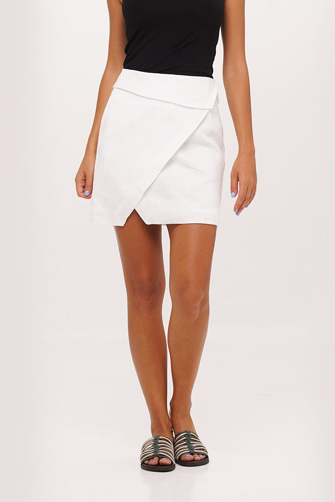 By The Sea Bali Khanawa Linen Skort