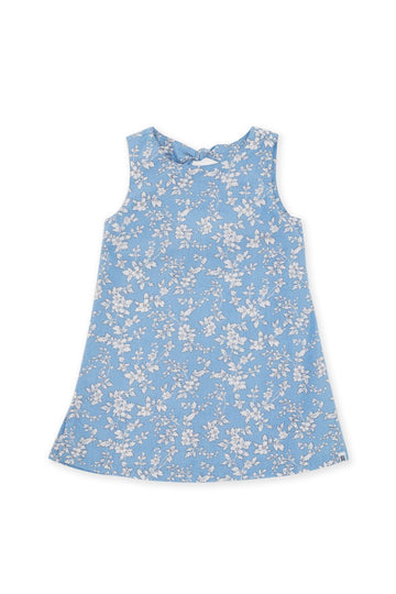 By The Sea Bali Kids Dress with a tie on the back Blue