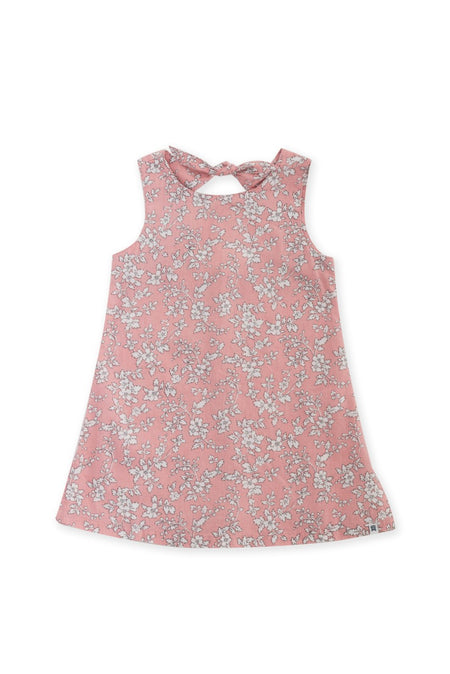 Kids Linen Lace Back Dress