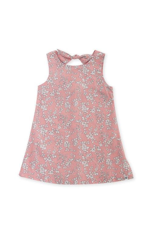 By The Sea Bali Kids Dress with a tie on the back Pink