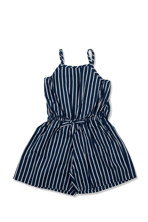 Kids Sleeveless Jumpsuit Navy