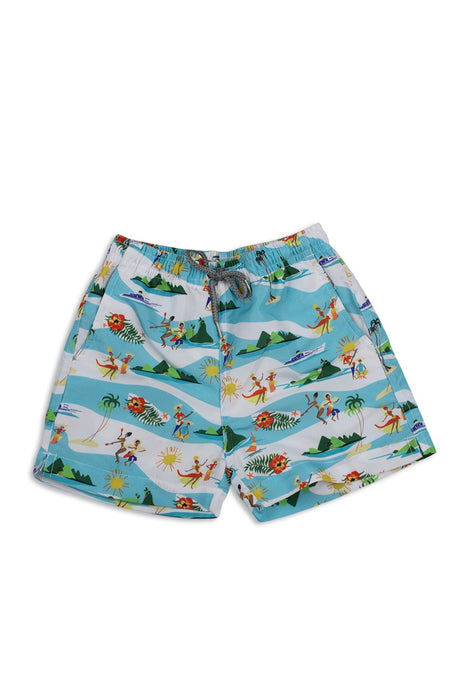 By The Sea Bali Kids Tropical Swimtrunk