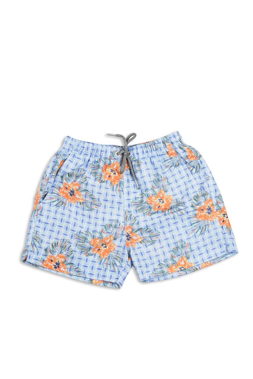 By The Sea Bali Kids Tropical Swimtrunk Blue
