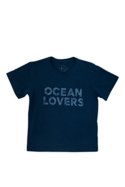 By The Sea Bali Kids printed T-shirt Navy Ocean Lovers